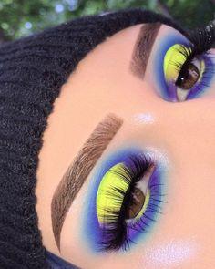 🎾🎾🎾 𝗕𝗥𝗢𝗪𝗦- Anastasia Beverlyhills Brow Powder Duo Brow Wiz 'Dark Brown' Clear Brow Gel 𝗦𝗛𝗔𝗗𝗢𝗪- Anastasia Beverlyhills X… Makeup Eye Looks, Eye Makeup Art, Colorful Eye Makeup, Crazy Makeup, Eyeshadow Makeup, Exotic Makeup, Clown Makeup, Fairy Makeup, Mermaid Makeup