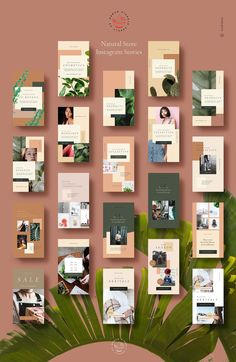 Natural Store Insta Stories & Posts by Nomad Visuals on Creative Market Instagram Design, Instagram Feed, Social Media Banner, Social Media Design, Website Design Inspiration, Layout Inspiration, Photoshop, 3d Camera, Graphisches Design