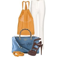 """Tangerine Dream"" by orysa on Polyvore"