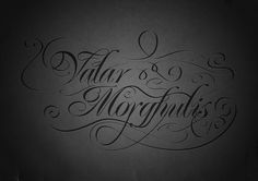 Awesome elaborate font