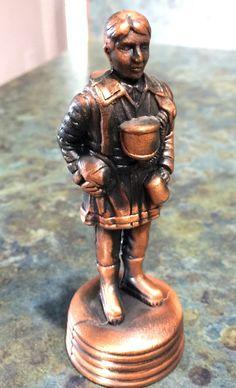Vintage Brass Cast Firefighter Pencil Sharpener 4 by LeftoverStuff