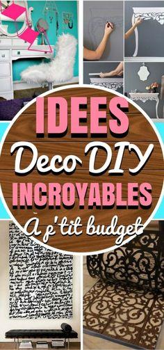 Décorer une maison peut rapidement devenir cher. Les maisons que vous voyez à la télévision et dans les magazines coûtent des milliers d'euros à décorer! Voici 18 projets de deco DIY. Ces projets sont simples, abordables au niveau du prix et, plus important, ils semblent magnifiques. Gardez votre argent ...
