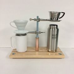 Double Pour Over Coffee Stand for Hario v60- Kalita- adjustable height