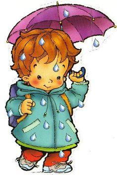 quenalbertini: Little boy with a purple umbrella Purple Umbrella, Bus Art, Unisex Baby Shower, Meli Melo, I Love Winter, Winter Crafts For Kids, Digi Stamps, Cute Illustration, Kids Cards