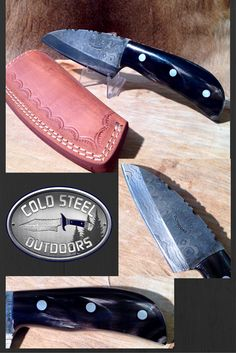Guide Skinner from Cold Steel Outdoors.  World Class Damascus Steel Hunting Knives. http://coldsteeloutdoors.com/collections/damascus-steel-knives