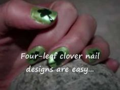 Easy Four-Leaf Clover Nail Designs (St. Patrick's Day Nail Art)