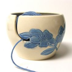 Yarn bowl. Great gift for me and it's from Etsy!!