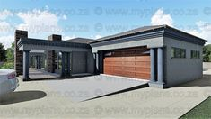 4 Bedroom House Plan – My Building Plans South Africa My Building, Building Plans, Single Storey House Plans, House Plans South Africa, Free House Plans, 4 Bedroom House Plans, Guest Toilet, Double Garage, Open Plan