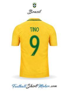 Camiseta Brasil 2016 Tino 9