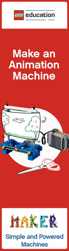 It's time for some middle school Makerspace fun! Can your students build an animation machine using LEGO bricks? Click for the full lesson plan!  #MAKERed #LEGO