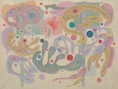Vasily Kandinsky, Capricious Forms (Formes capricieuses), July 1937. Oil on canvas, 88.9 x 116.3 cm. Solomon R. Guggenheim Museum, New York. Solomon R. Guggenheim Founding Collection 45.977