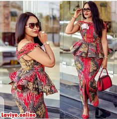 There are numerous ways you can design your 2020 Ankara Skirt and Styles. This year, these native attires have proven to be a bad-ass. We love what we see daily from different parts of the world. Latest African Fashion Dresses, African Dresses For Women, African Print Dresses, African Print Fashion, Africa Fashion, African Attire, African Prints, African Clothing Stores, Clothing Styles