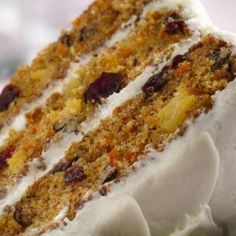 Carrot-Cranberry Cake Enjoy your carrots naturally sweet baked in a cake frosted with rich cream cheese frosting. Muffin Recipes, Baking Recipes, Cake Recipes, Sweets Recipes, Apple Recipes, Cupcakes, Cupcake Cakes, Pinapple Cake, Cranberry Cake
