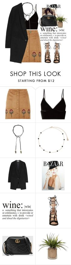"""""""- Suede-ette -"""" by lolgenie ❤ liked on Polyvore featuring Dorothy Perkins, T By Alexander Wang, Jacquie Aiche, Accessorize, STELLA McCARTNEY, Kerr®, WALL, Gianvito Rossi and Gucci"""