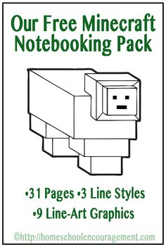 Do your kids love minecraft? Our FREE Minecraft Notebooking Pages Printable Pack help you incorporate minecraft into your homeschool and make learning fun! Minecraft School, Lego Minecraft, Minecraft Ideas, Minecraft Party, Minecraft Activities, Kid Activities, Teaching Skills, Teaching Resources, Coloring Pages For Boys