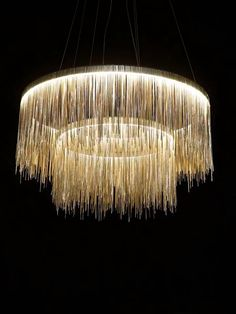 Accent lighting (bedside table lamps, modern wall lamps, rustic floor lamps and crystal chandeliers) can change the ambi Diy Chandelier, Modern Chandelier, Chandelier For Living Room, Handmade Chandelier, Luxury Chandelier, Chandelier Bedroom, Modern Wall Lights, Arts And Crafts, Pallet Furniture