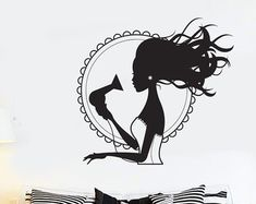 Hairdresser Wall Decal Hair Salon Decal Hairdresser Decal Beauty Salon Decal Hairdresser Vinyl Decal Bring Color To The World Decal Beauty Makeover, Salon Art, Salon Interior Design, Hair Shop, Afro Art, Vinyl Wall Decals, Wall Sticker, Barber Shop, Line Art