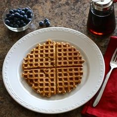 """Healthy Multigrain Chia Waffles 