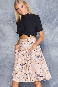 9464573dd03 Kuniyoshi Cats Yoke Midi Skirt - Limited - Skirts - Bottom - Shop Black Midi  Skirt