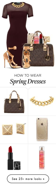 """""""Untitled #312"""" by creativetaylor on Polyvore featuring Rifle Paper Co, NARS Cosmetics, MICHAEL Michael Kors and Tom Ford"""