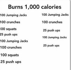 1000 calorie burn workout