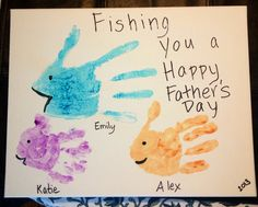 Father's Day handprint art for my dad