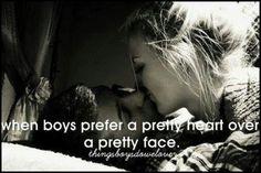Prefer a preety heart over a preety face