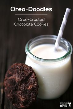 Oreo-Doodles (Oreo-Crusted Chocolate Cookies)