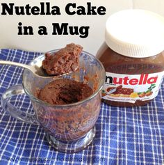 Easy Nutella Microwave Cake in a Mug | happier homemaker