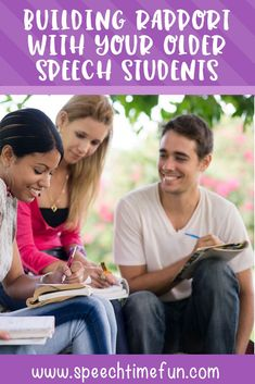 Building rapport with students is key to having successful speech therapy sessions, but sometimes it's easier said than done. This post shares a variety of ideas for building rapport with your older speech students, who can sometimes be harder to reach and build relationships with. Click through to read the ideas!