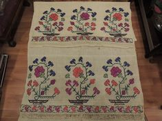 Geometric Designs, Bohemian Rug, Elsa, Ottoman, Traditional, Embroidery, Stitch, Antiques, Barbell