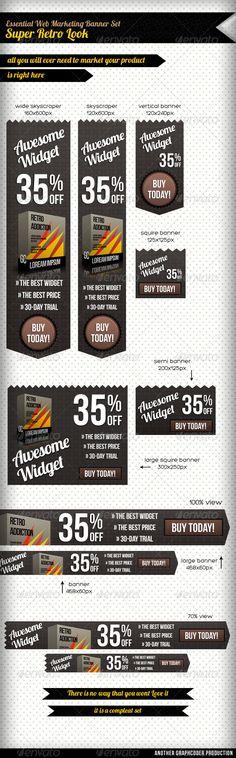 Awesome Retro Web Marketing Set