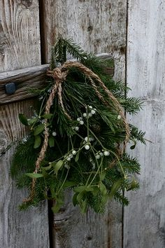 Mistletoe...I love the pine accent. ~HH