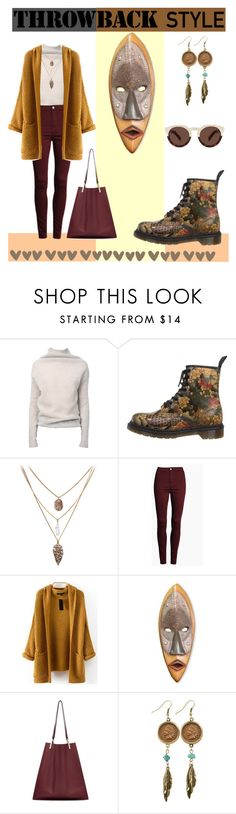 Throwback Style: Dr. Martens by adriana-claudia on Polyvore featuring Rick Owens, Dr. Martens, Victoria Beckham, American Coin Treasures, Illesteva, NOVICA and throwbackstyle