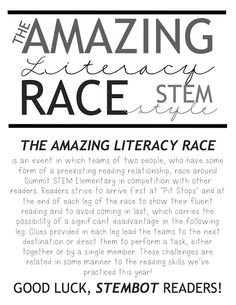 """A few weeks ago my teaching colleague had a great idea to create an """"Amazing Race"""" for our reading intervention students. She's an avid wat. Middle School Literacy, Middle School Reading, Beginning Of School, 8th Grade Ela, Ninth Grade, Seventh Grade, Grade 3, Read A Thon, Curriculum Night"""