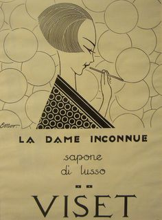 =Art Deco=  Advertisement for Luxury Soap, 'Viset' ~