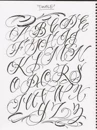 Alphabet Hood Letters (Chicano Lettering)