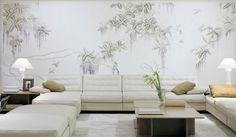 exclusive Luxus Tapete Wandgestaltung handgemalt online kaufen