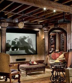 Guess Which Celebrities Own These Home Theaters. Celebrity Man caves. Awesome!