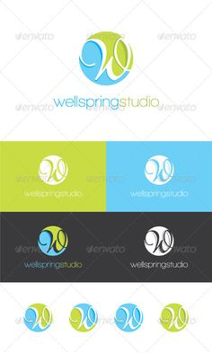 Water Wave Logo - Letters Logo Templates