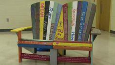 Friendship Bench presented to Springfield Park Elementary School in Glen Allen. Virginia