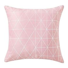 Blue Print Cushion, Light Pink ($26) ❤ liked on Polyvore featuring home, home decor, throw pillows, blue throw pillows, blue home accessories, blue accent pillows, blue home decor and blue toss pillows