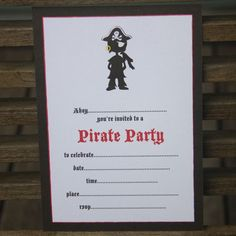 I'm selling Pirate Party Invitations - pack of 10 - A$6.00 #onselz