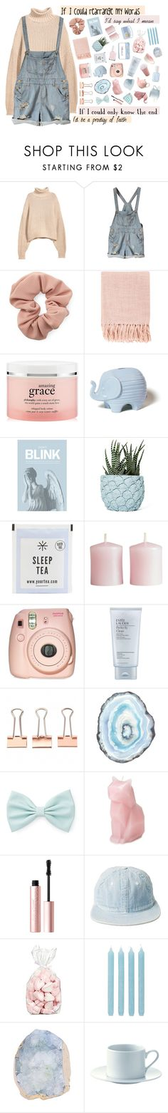 """if ignorance is bliss, then i guess i'm in heaven"" by persephone-tbf ❤ liked on Polyvore featuring H&M, Forever 21, Surya, philosophy, Jonathan Adler, Blink, Chen Chen & Kai Williams, Essie, Fujifilm and Estée Lauder"