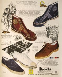 1938 Keds sneakers and shoes....