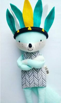 You have to check this etsy store. All toys are handmade with natural materials and very modern. Love this fox #ad #etsy