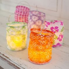 Add a fun vibe to your summer party with these paper boho lanterns!