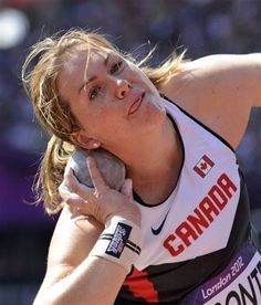 Canada's Julie Labonte takes a throw in a women's shot put qualification round during the athletics in the Olympic Stadium at the 2012 Summer Olympics, London, Monday, Aug. Long Jump, High Jump, Olympic Sports, Olympic Games, Sports Day, Sports Women, Triple Jump, 2012 Summer Olympics, Pole Vault