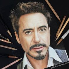 Realistic Pencils Art by Sheila R Giovanni | Cuded Colorful Drawings, Cool Drawings, Painting Corner, Avengers Drawings, Potrait Painting, Iron Man Art, Realistic Pencil Drawings, Marvel Fan Art, Celebrity Drawings