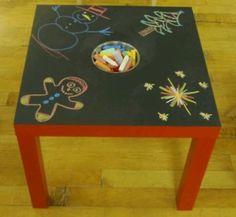 Leuk om te maken met een oud ikea tafeltje